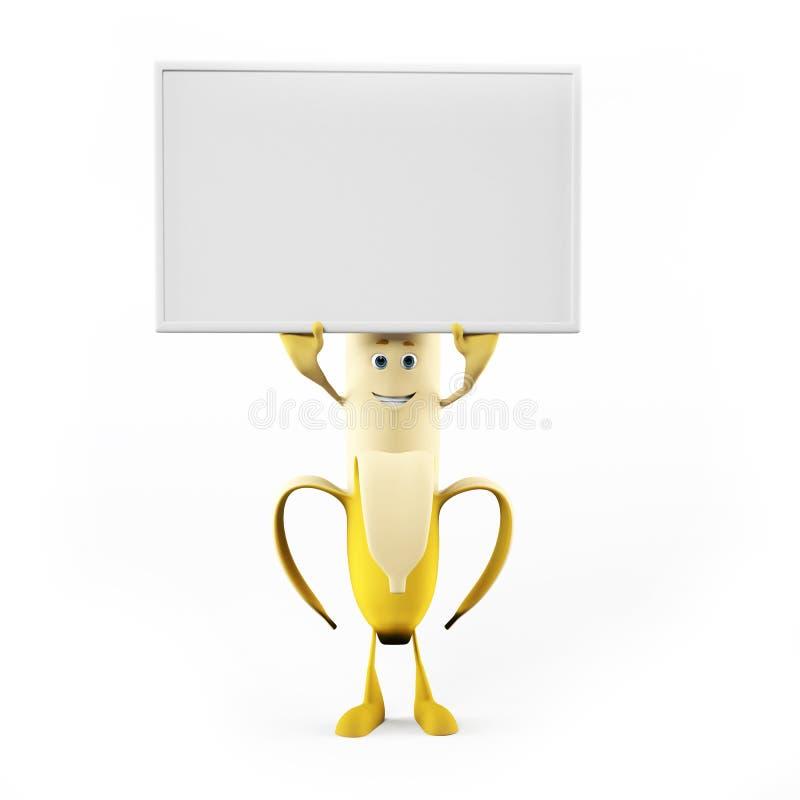 Mattecken - banan royaltyfri illustrationer