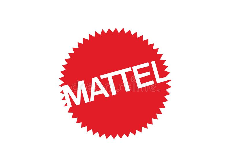 Mattel logo royalty ilustracja