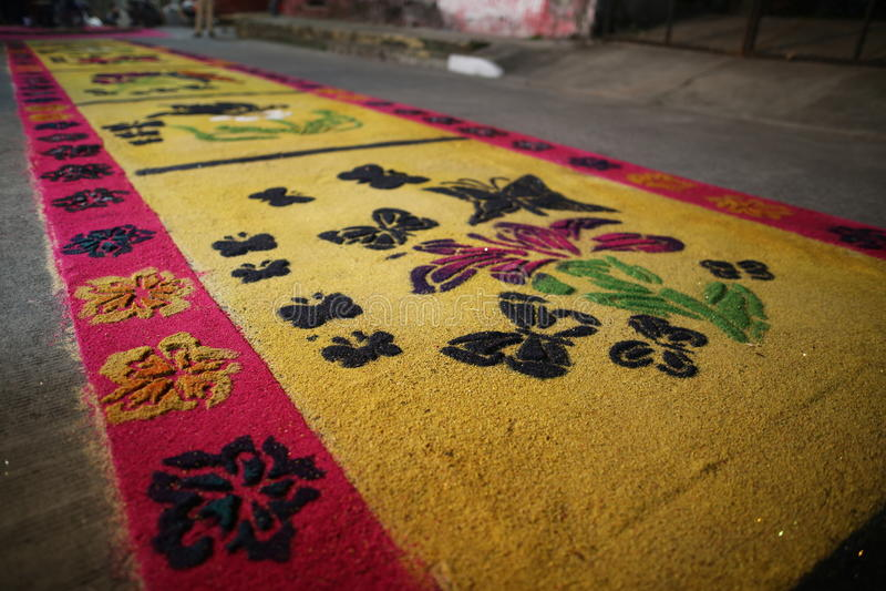 Matten en godsdienst in Mexico stock afbeelding