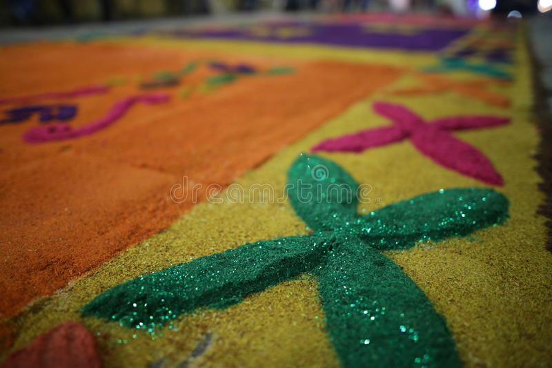 Matten en godsdienst in Mexico stock fotografie