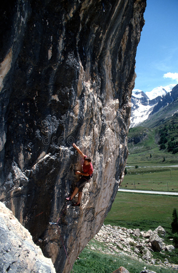 Matteo climber royalty free stock images