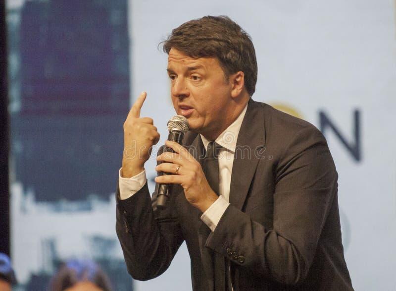 Matteo Renzi, секретарша PD, Демократическая партия стоковые фото