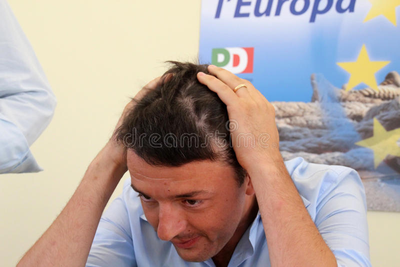 Matteo Renzi arkivfoton