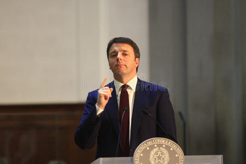 Matteo Renzi images libres de droits