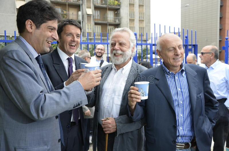 Matteo Renzi, burgemeester van Florence royalty-vrije stock foto's