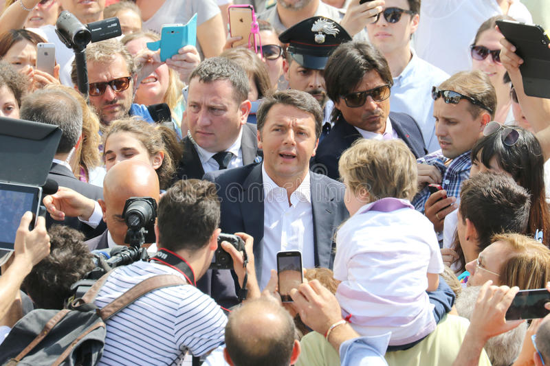 Matteo renzi royalty free stock photos