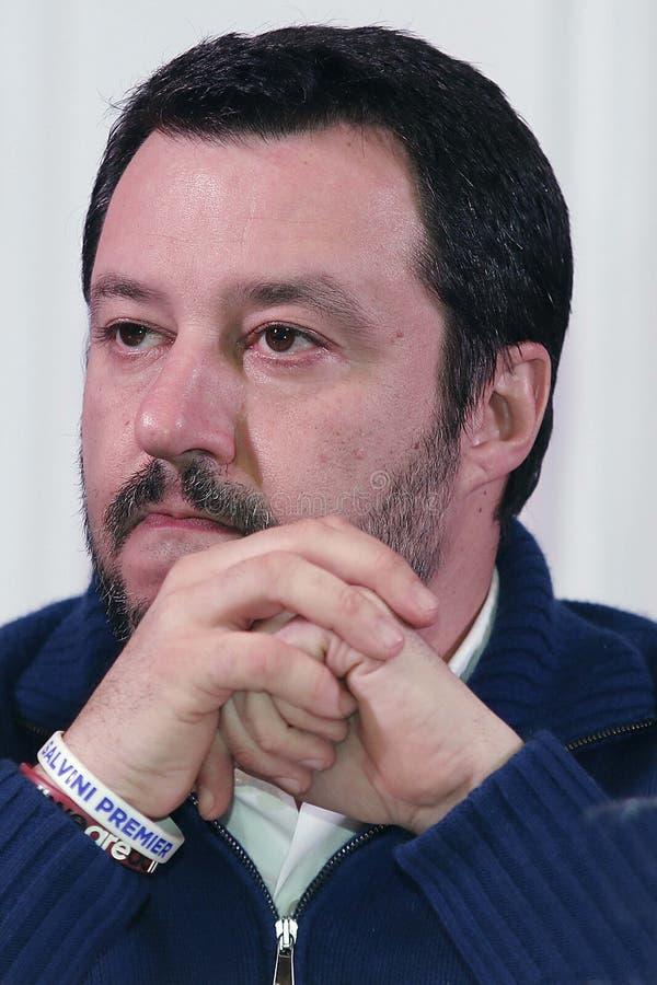 Matteo Salvini royaltyfria foton