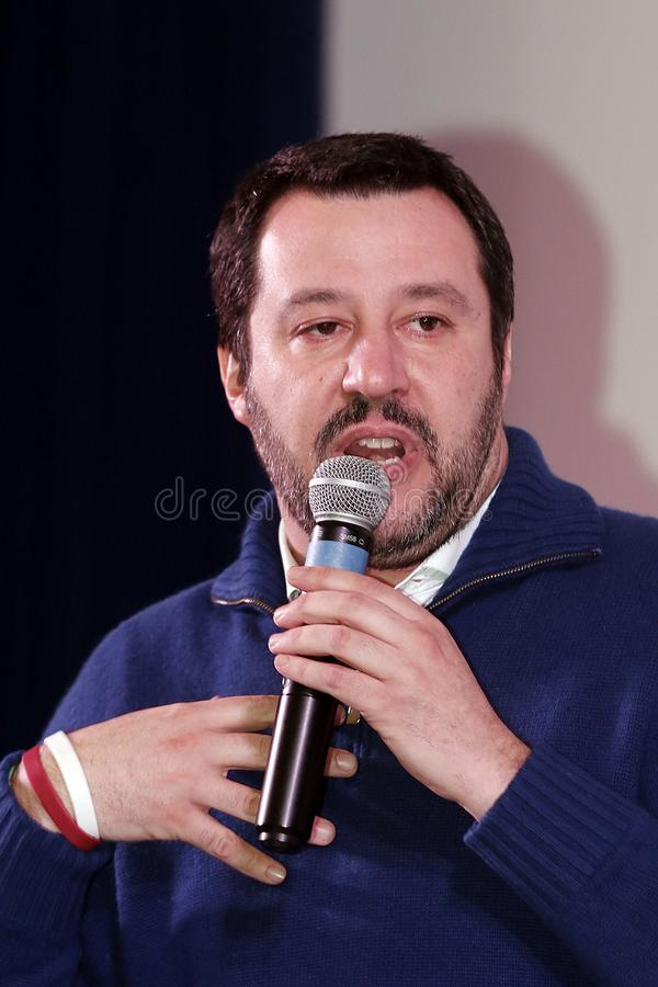 Matteo Salvini royaltyfri bild