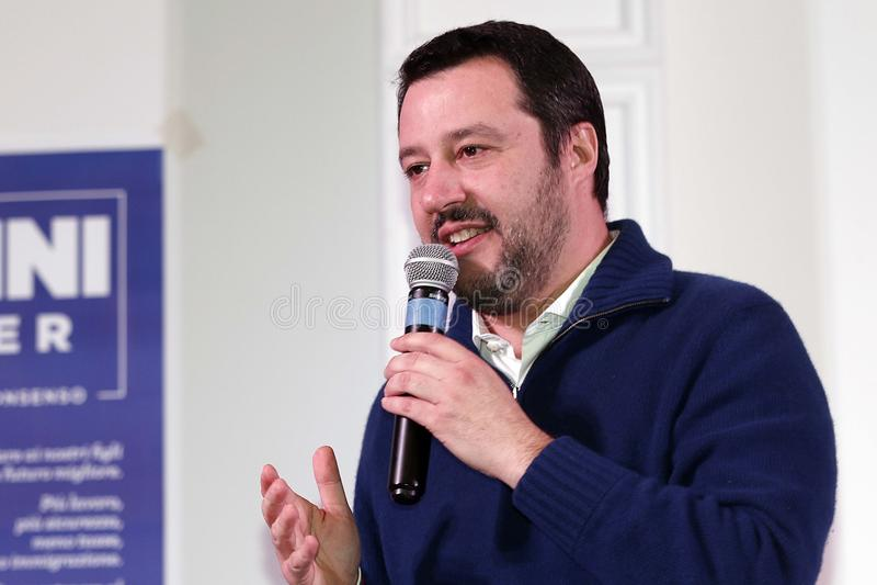 Matteo Salvini royaltyfri fotografi
