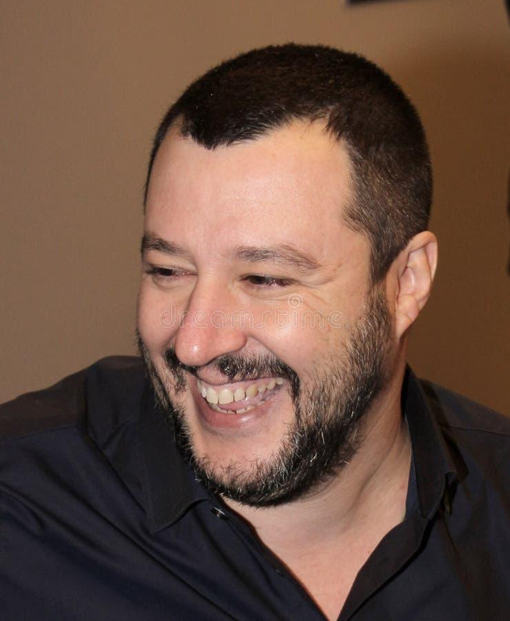Matteo Salvini royaltyfria bilder