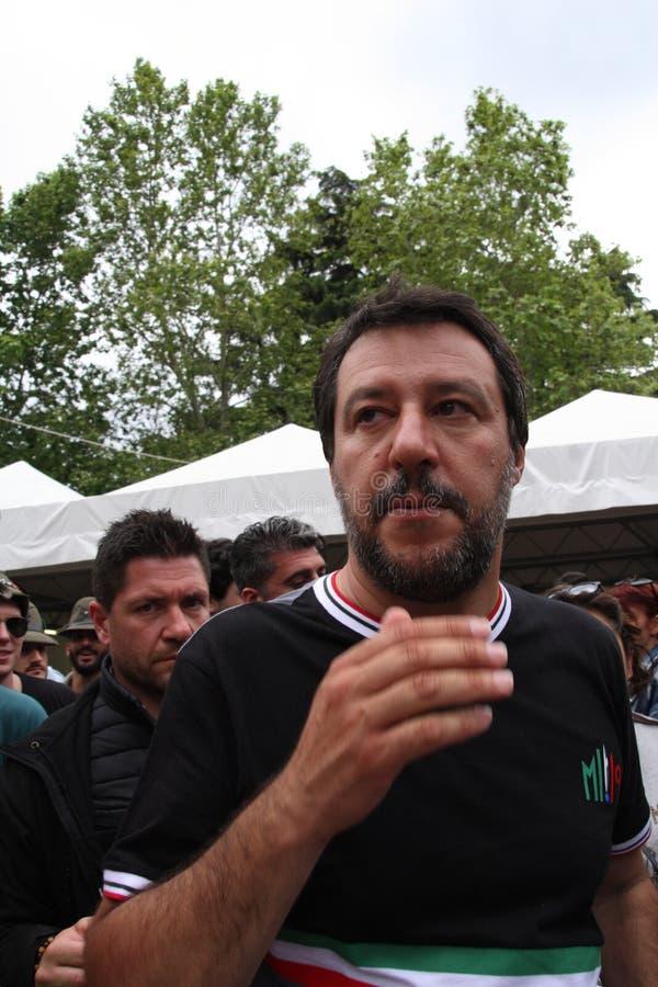 Matteo Salvini Milan, es el 9 de marzo de 1973 pol?tico italiano imagenes de archivo