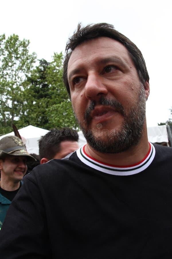 Matteo Salvini Milan, es el 9 de marzo de 1973 pol?tico italiano foto de archivo