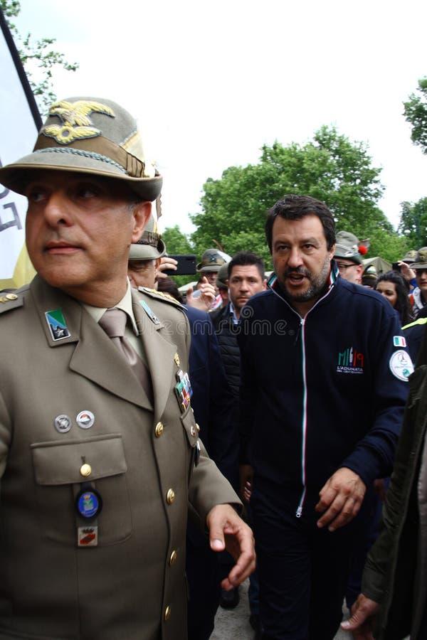 Matteo Salvini Milan, 9 March 1973 is an Italian politician royalty free stock photos