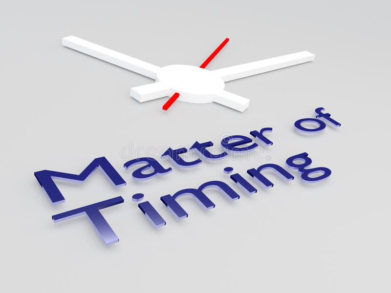 Matter of Timing concept royalty free illustration