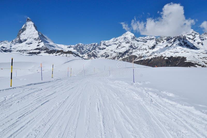 matterhorn βουνό Ελβετία zermatt στοκ φωτογραφία με δικαίωμα ελεύθερης χρήσης
