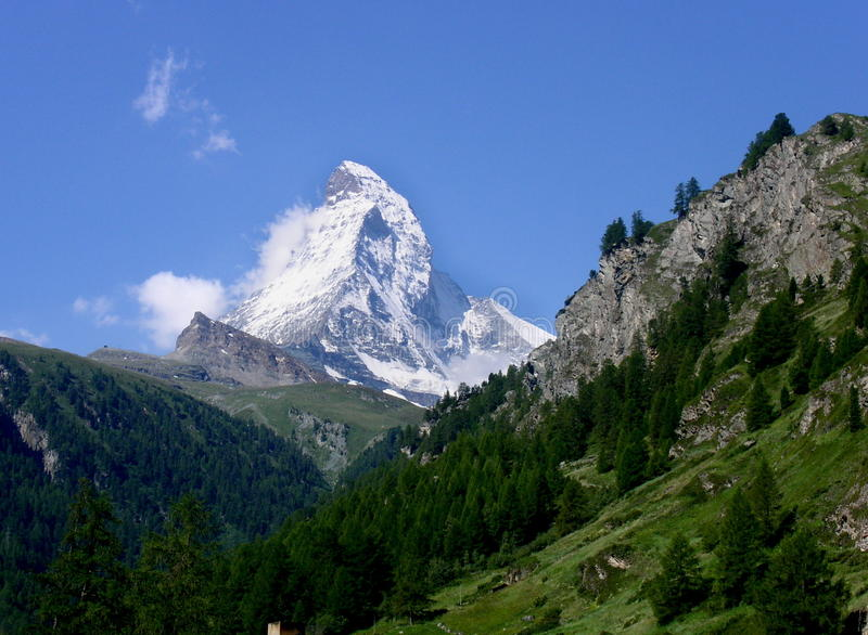 Download Matterhorn stock image. Image of valais, mountains, white - 12933229