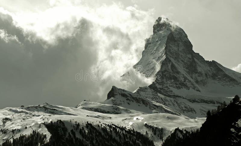 Matterhorn. As seen from Zermatt, Switzerland royalty free stock photography