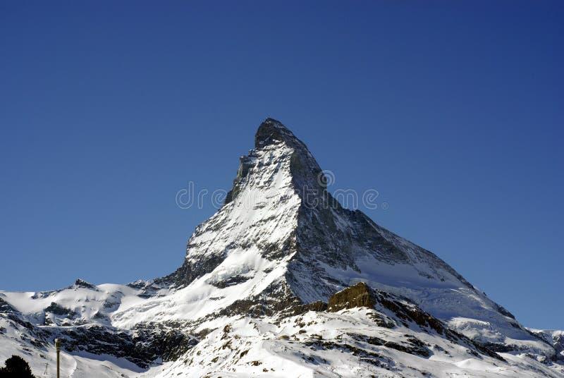 Matterhorn. Switzerland, mountain, snow, cold, high royalty free stock photo