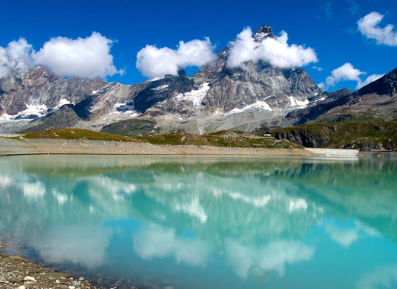 Matterhorn. View of Matterhorn from Cervinia (Italy royalty free stock photos