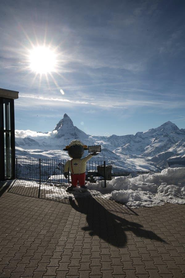 Matterhorn avec le soleil photos stock