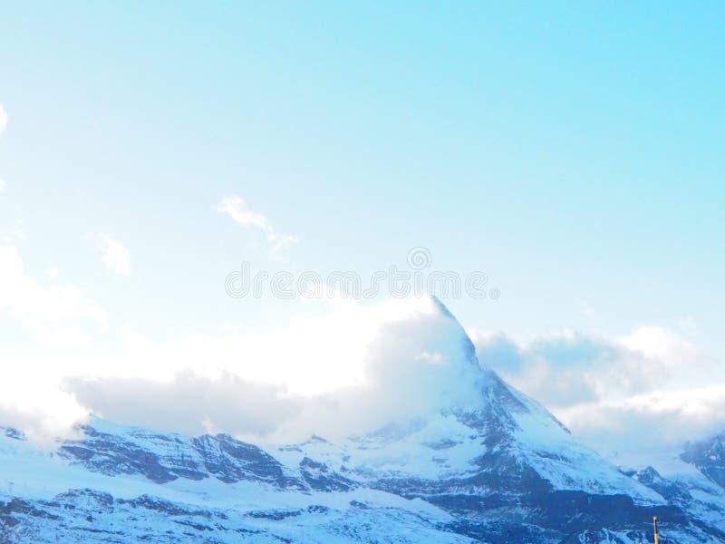 Matterhorn de côté de Swizz photo libre de droits