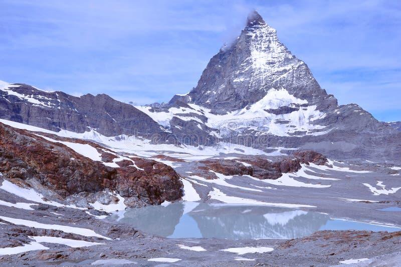 Matterhorn de côté de Swizz switzerland photos stock