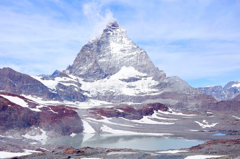 Matterhorn de côté de Swizz switzerland photo libre de droits