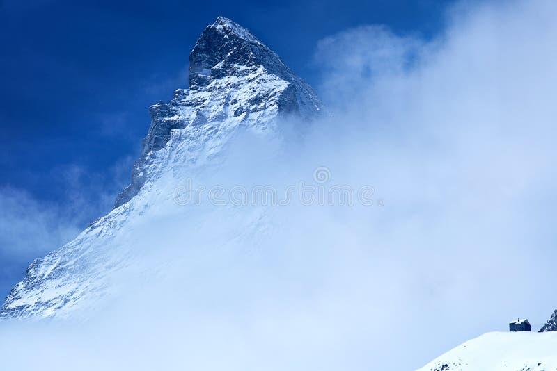 Matterhorn in der Schweiz stockbild
