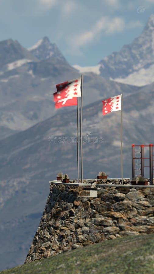 Matterhorn Dristelen royalty free stock images