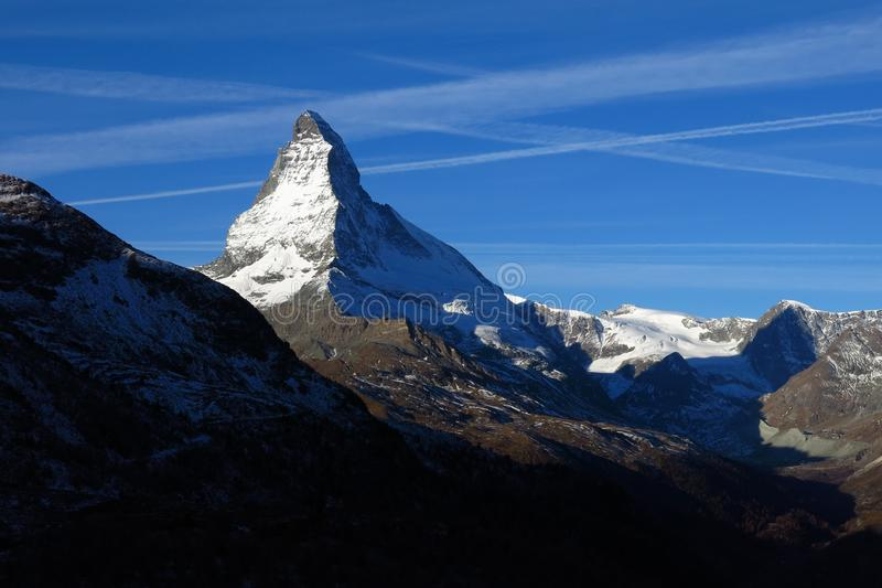 Matterhorn en la salida del sol foto de archivo libre de regalías
