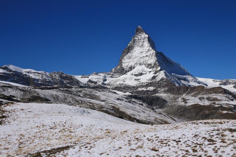 Matterhorn en otoño foto de archivo libre de regalías