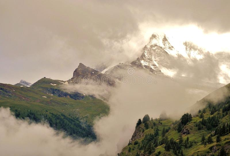 Matterhorn mountain of mountains royalty free stock images