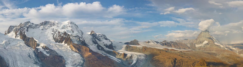 Matterhorn-Gletscher-Panorama stockbilder