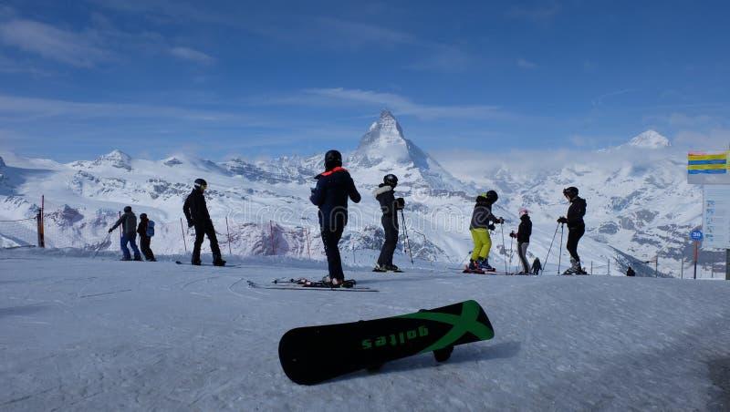 Matterhorn: Het Juweel van de Zwitserse Alpen royalty-vrije stock afbeelding