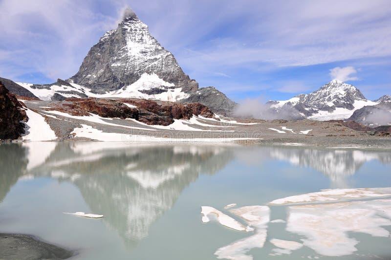 Matterhorn. La Suisse. images libres de droits