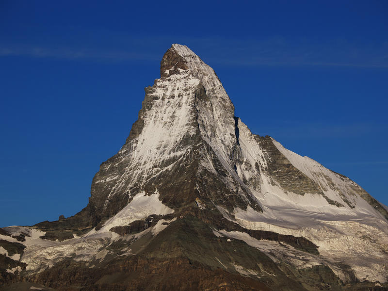Download Matterhorn In Morning Sun With Blue Sky Stock Image - Image of snow, alpinism: 28286415