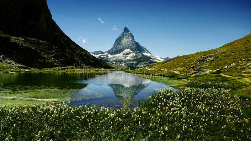Matterhorn. The most beautiful mountain of the Alps, Switzerland royalty free stock image