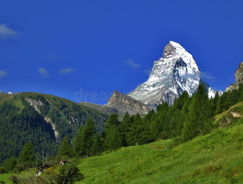 Download Matterhorn mountain stock photo. Image of blue, east, mount - 9595678