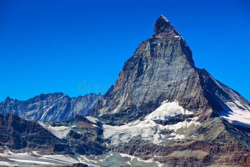 Matterhorn mountain. Alps Matterhorn mountain summer landscape royalty free stock images