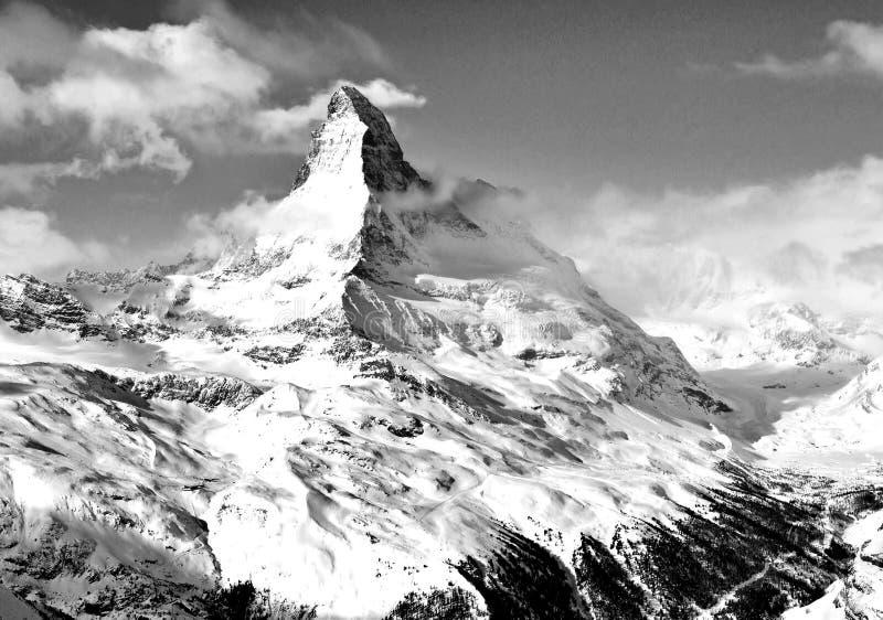 Matterhorn mountain of mountains royalty free stock photography