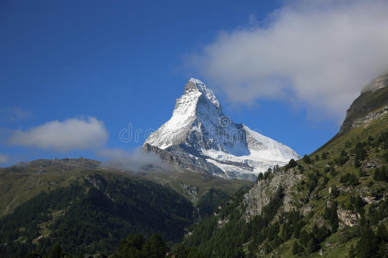 Matterhorn. Mountain at Zermatt. Switzerland royalty free stock photography