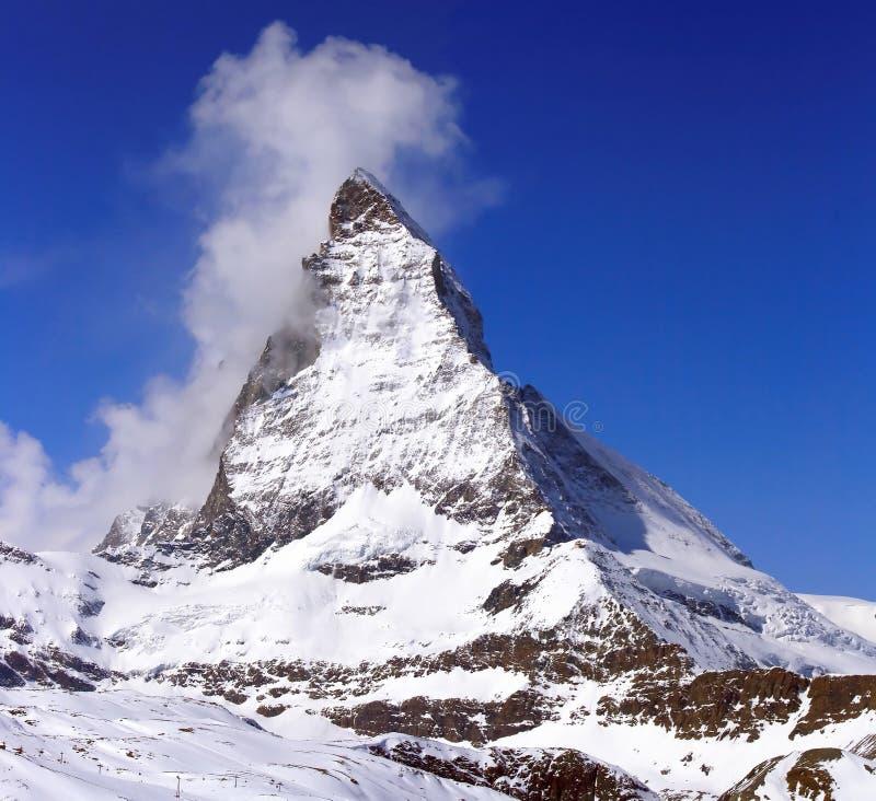 Matterhorn Peak. Matterhorn, logo of toblerone chocolate, located in Switzerland royalty free stock images