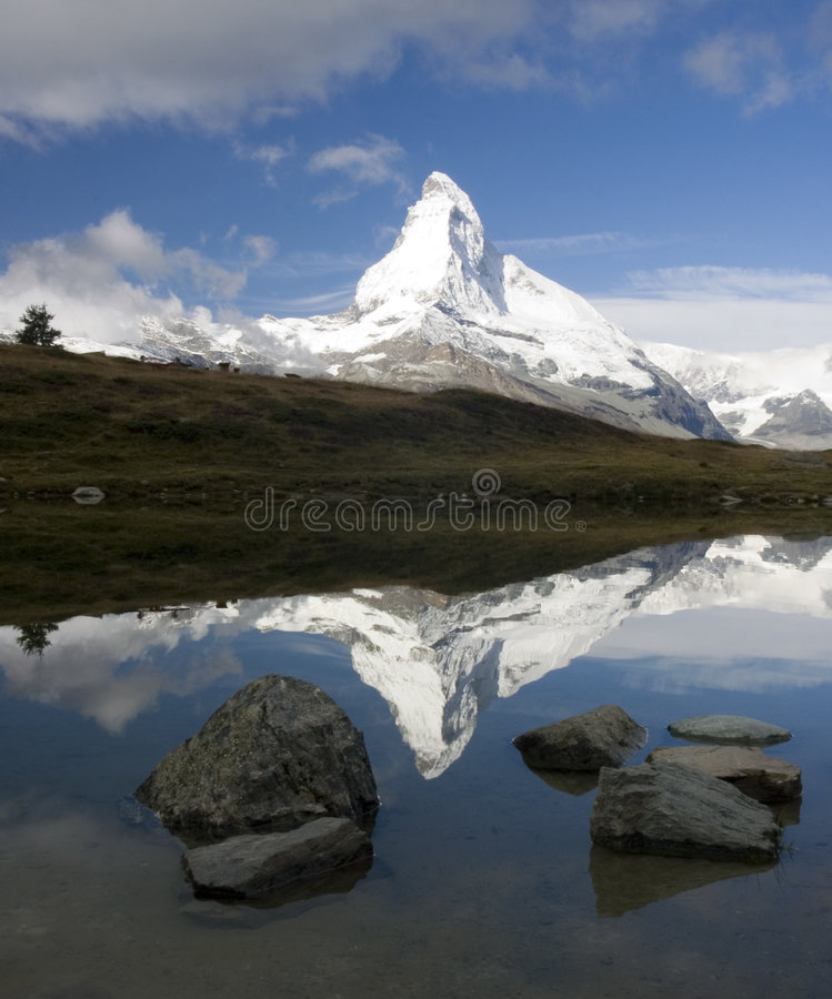 Matterhorn Reflection stock photography