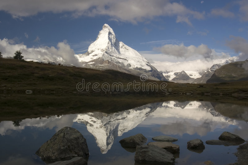 Matterhorn Reflection royalty free stock photo
