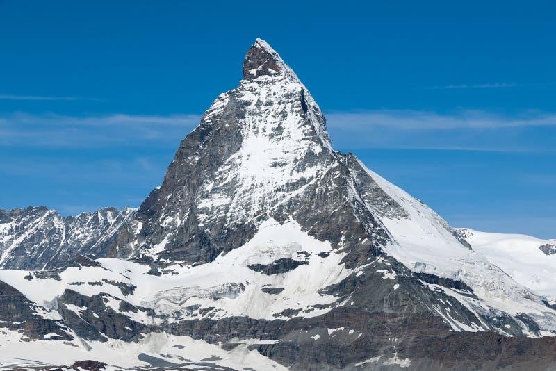 Matterhorn. The Matterhorn during the sunny weather royalty free stock photography