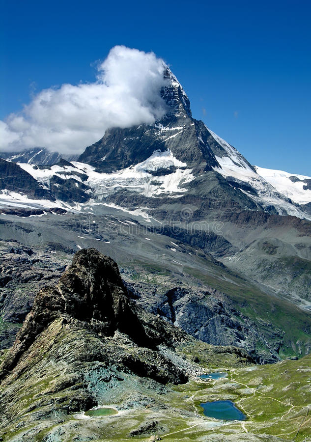 Matterhorn in Switzerland royalty free stock photography