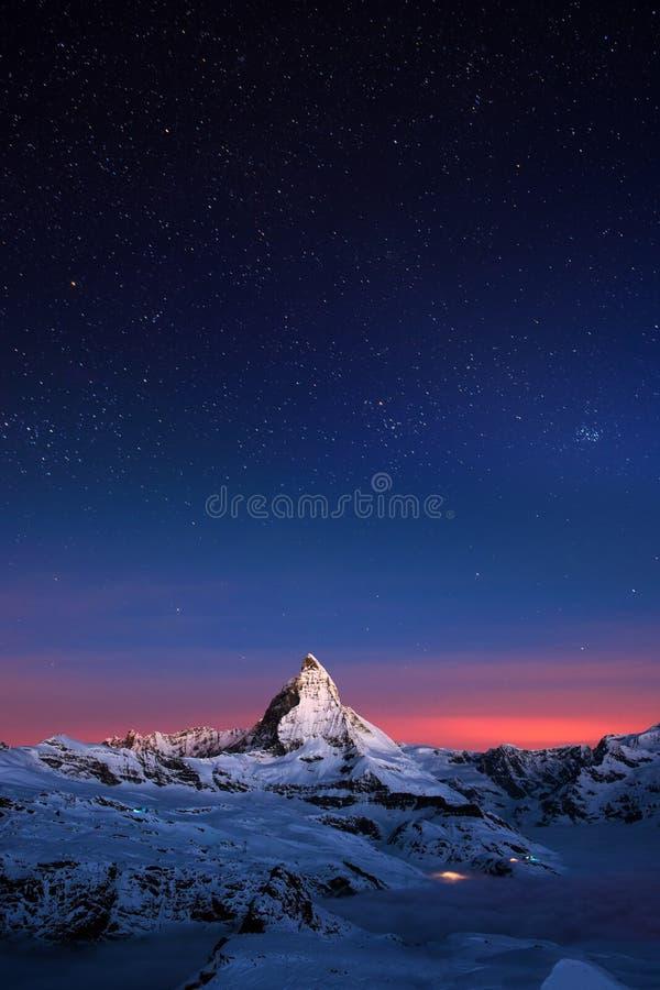 Matterhorn, Switzerland. The Matterhorn peak, Zermatt, Switzerland stock photography