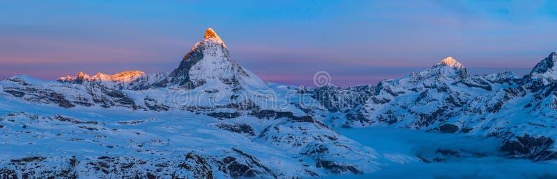 Matterhorn, Switzerland. THe Matterhorn peak, Zermatt, Switzerland royalty free stock photo