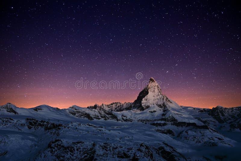 Matterhorn, Switzerland. The Matterhorn peak, Zermatt, Switzerland royalty free stock image