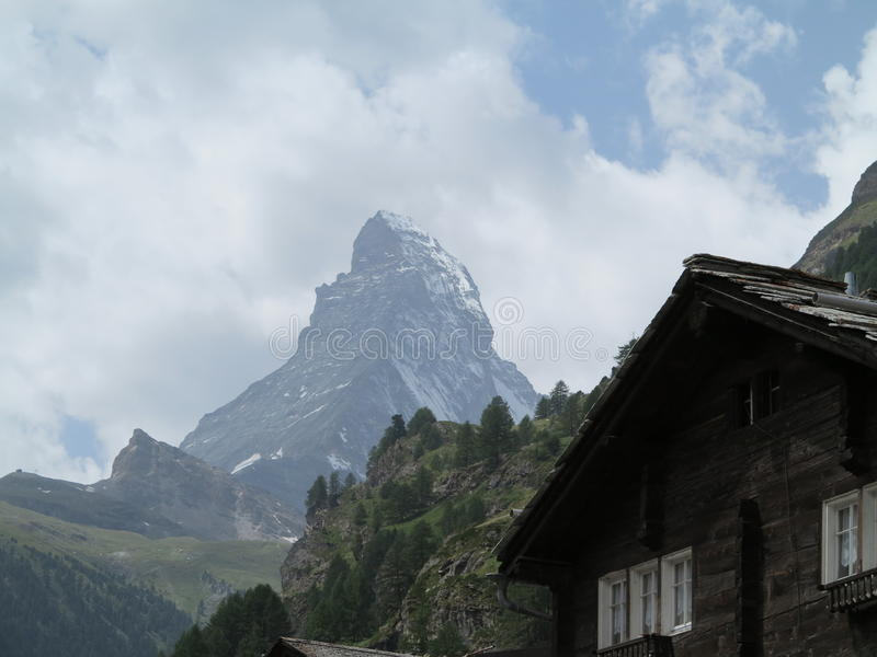 Matterhorn szczyt fotografia royalty free